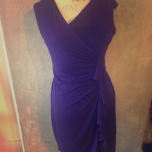 Purple V Neck dress!Great for work or a night out!
